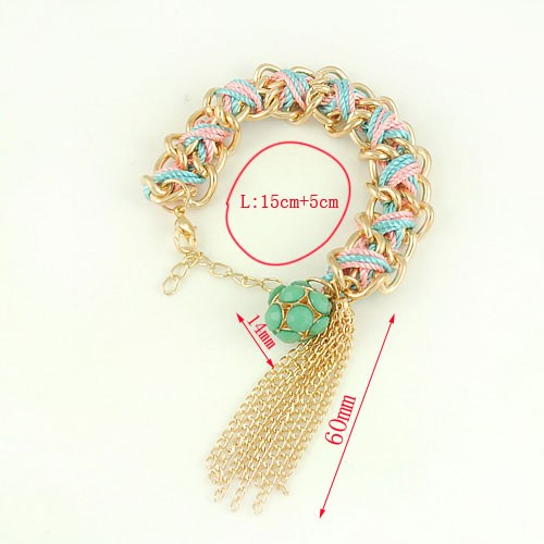 Hand-made Tassels Decor Alloy Bracelet Jewelry