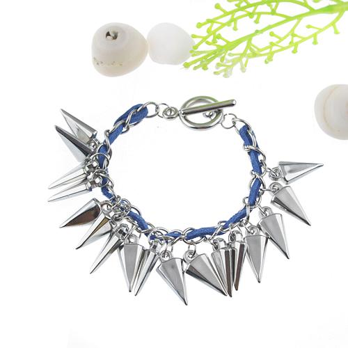 Fashion Punk Style Rivet Pendant Bracelet Jewelry