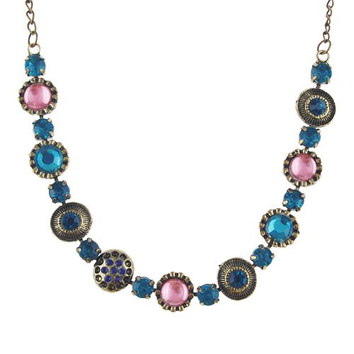 Baroque Style Rhinestone Decor Necklace Jewelry