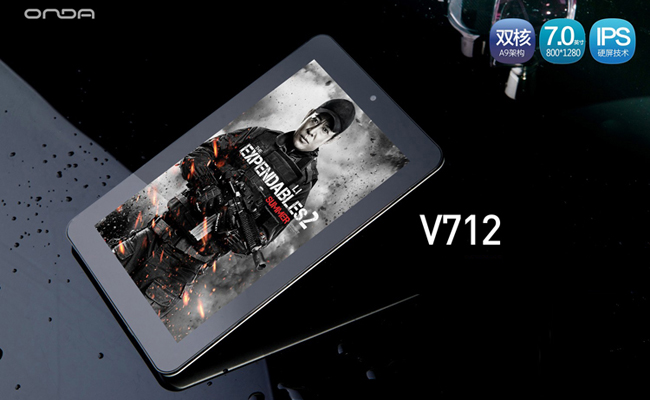 ONDA V712 7 Inch Tablet PC 16GB AML8726-MX IPS Screen Dual Camera