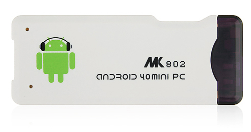MK802 Mini Android PC Android TV Box Android 4.0 A10 1G RAM HDMI TF 4GB- White