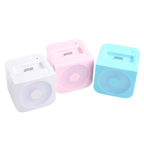 Hand-held Stereo FM Multimedia Speaker for iPhone/iPod