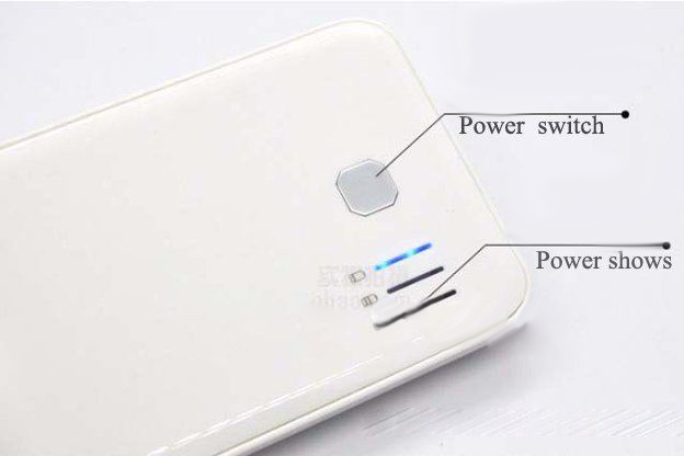 5000mAh 2 USB Output Power Bank Portable External Battery Pack for ipad/iphone 2 Colors