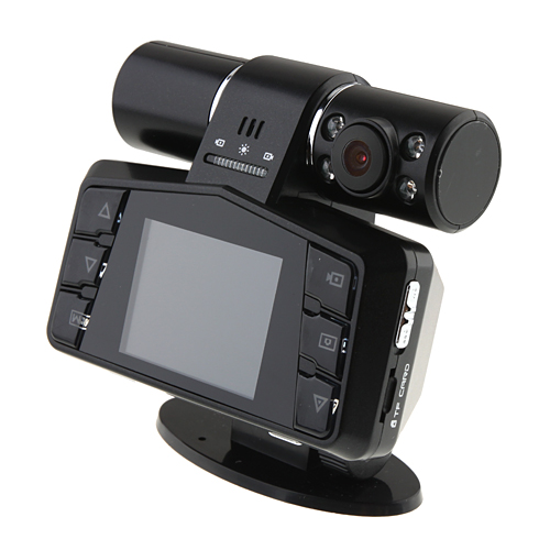 New Dual Lens Camera Car Vehicle DVR 2.0TFT Night Vision Video Recorder Camera