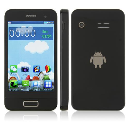S9500 Phone Dual Band Dual SIM Card Dual Camera Bluetooth 3.5 Inch Touch Screen- Black