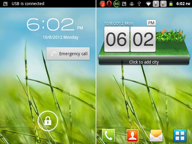 610 Smart Phone Android 2.3 MTK6515 1.0GHz WiFi 3.5 Inch Capacitive Screen- Green