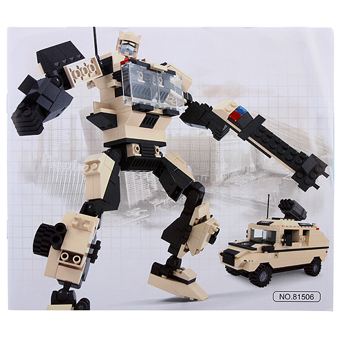 Blocks Deformation Soldiers Hurricane Warrior Assembly Model Kit Educational Toy Set