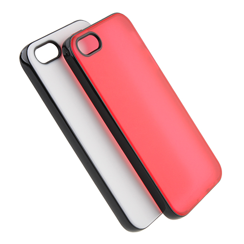 Protective Silica Gel Case Cover for iPhone 5 with Removable Frame