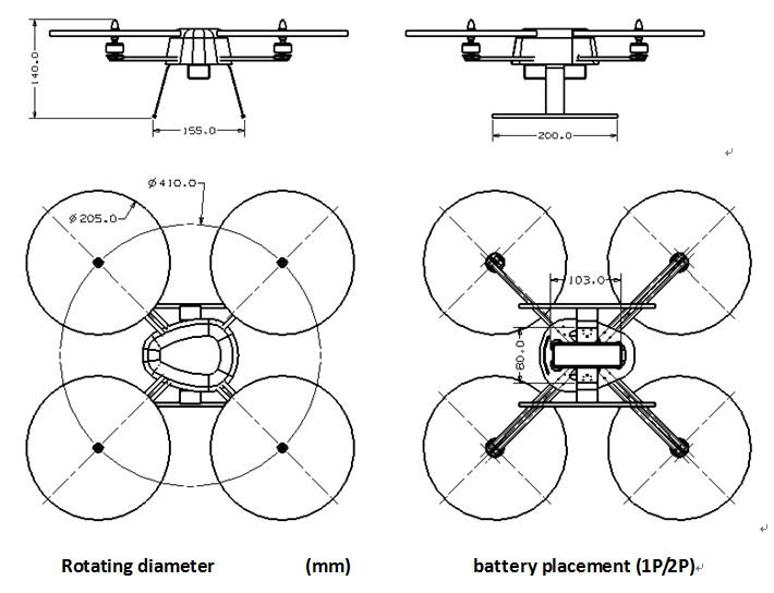 Квадрокоптер f450 схема