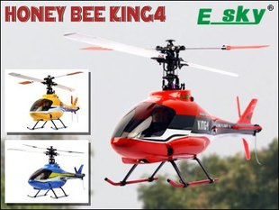 Esky Honey Bee King 4 6CH CCPM RC Helicopter RTF 2.4GHz  w/Aluminium Case 002798