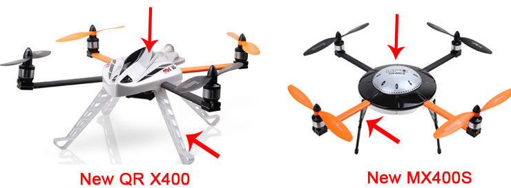Walkera New QR X400 with DEVO 7E 6-Axis-Gyro UFO Quadcopter RTF with Aluminum Case 2.4Ghz