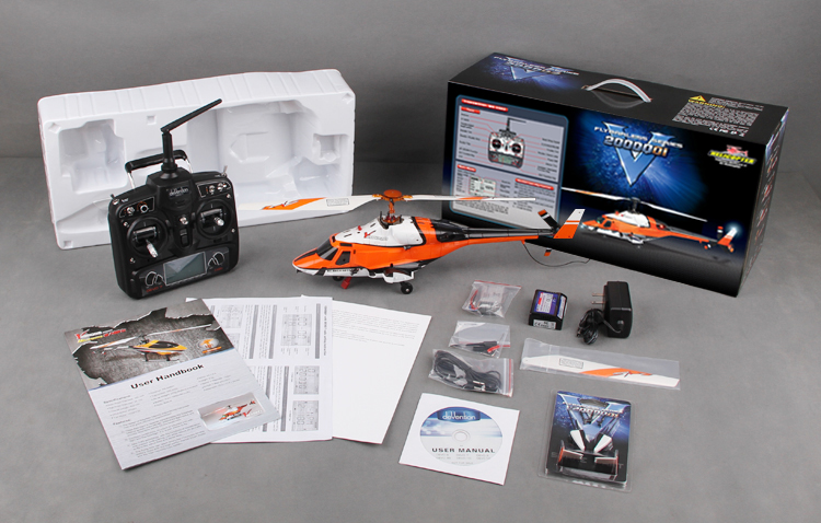 Walkera V200DQ01 with DEVO7 Transmitter Flybarless Helicopter RTF 2.4Ghz