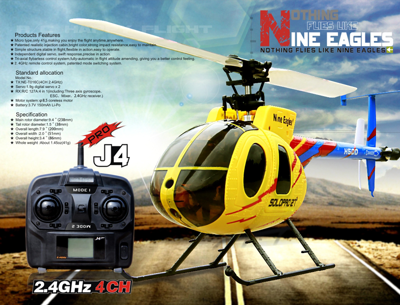 Nine Eagle Solo pro 127 127A Flybarless RTF Helicopter 2.4G
