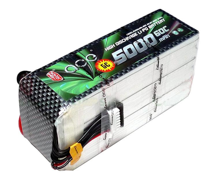 ACE 22.2V 5000mAh 60C LiPo Battery Pack Align GOBLIN GAUI
