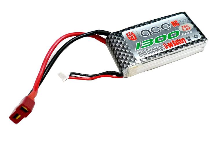 ACE 7.4V 1300mAh 25C LiPo Battery Pack