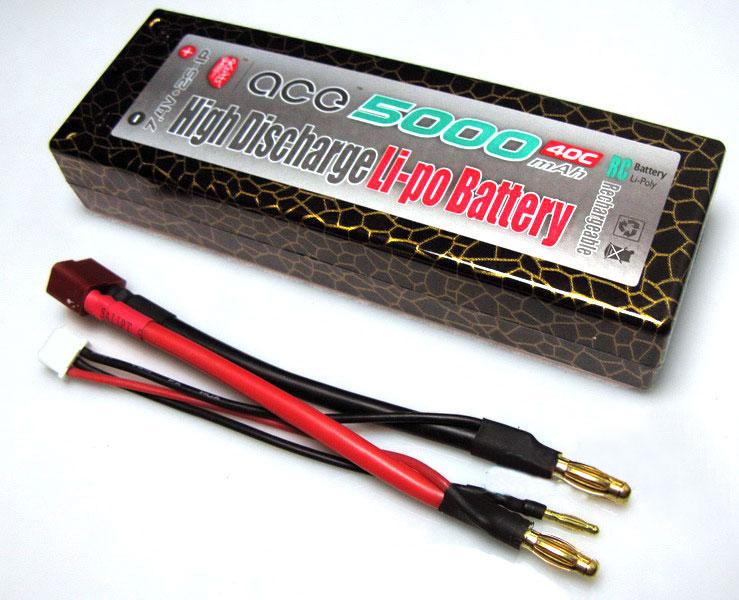 ACE 7.4v 5000mAh 40C LiPo Battery Pack
