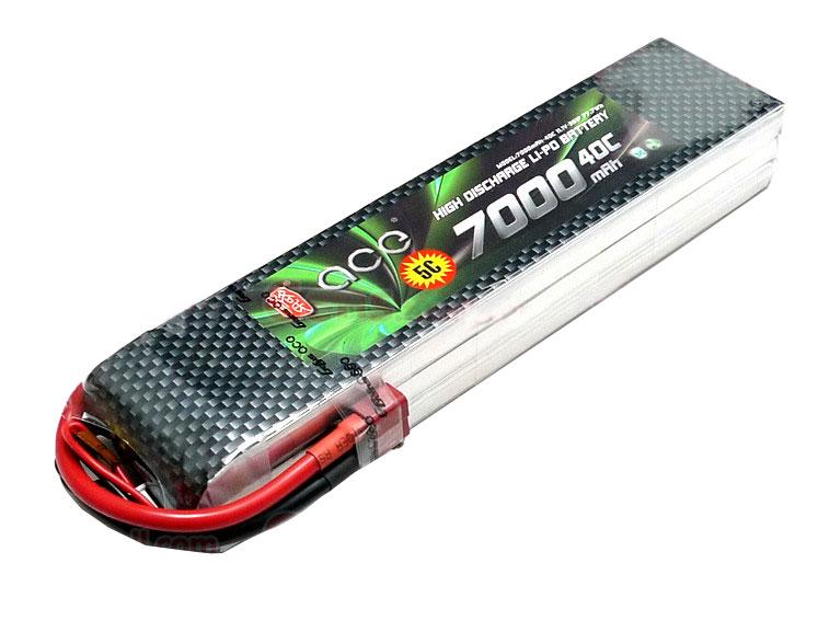 ACE 11.1v 7000mAh 40C LiPo Battery Pack