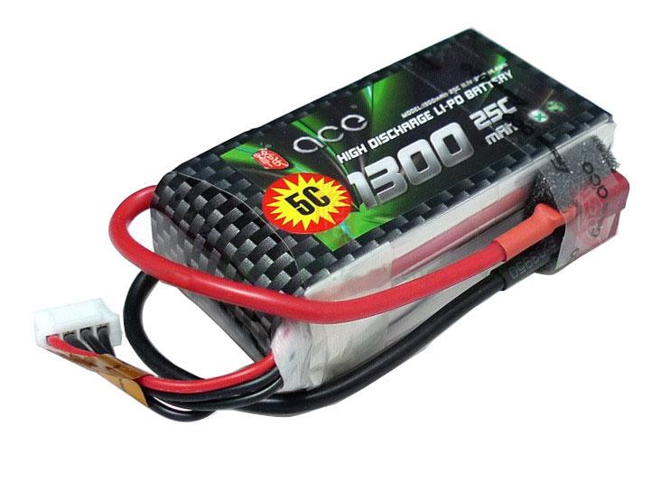 ACE 11.1V 1300mAh 25C LiPo Battery Pack