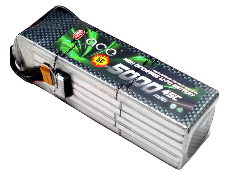 ACE 22.2V 5000mAh 45C LiPo Battery Pack 亚拓700 泰世X7等绝配