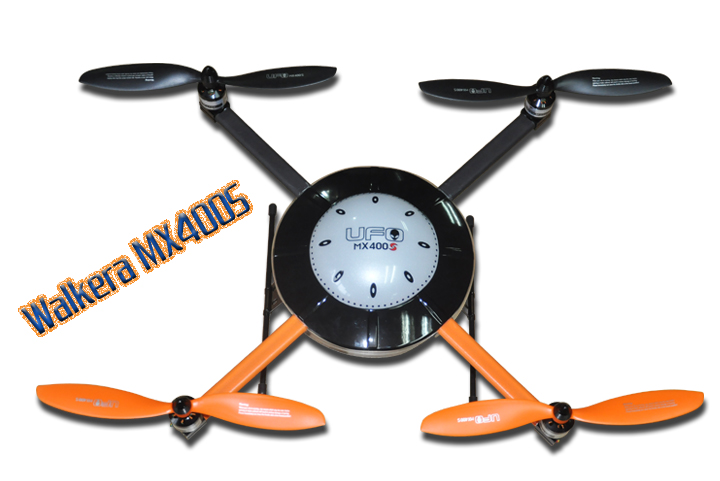 Walkera New UFO MX400S BNF 6-Axis Gyro Quadcopter without Transmitter with Aluminum Case