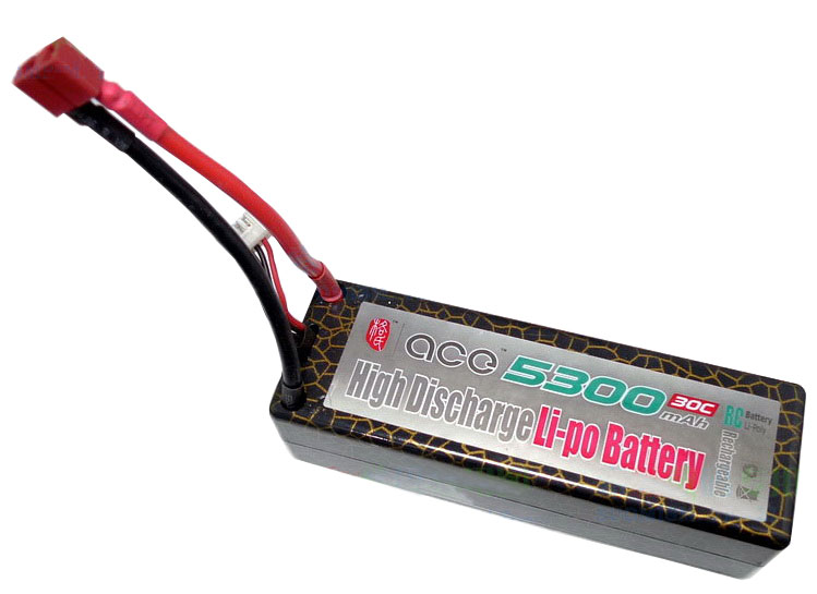 ACE 11.1V 5300mAh 30C LiPo Battery Pack hard shell 30C
