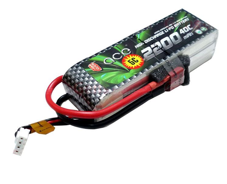 ACE 11.1V 2200mAh 3S 40C LiPo Battery Pack High C