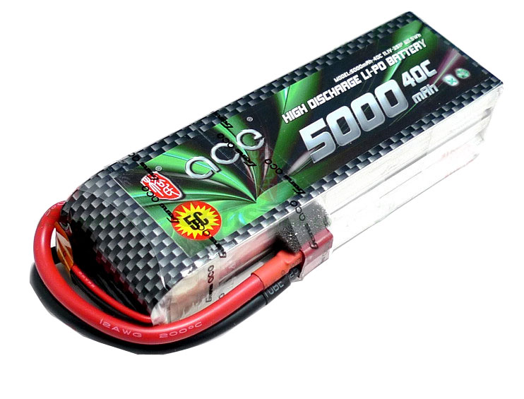 ACE 11.1v 5000mAh 40C LiPo Battery Pack S Edition