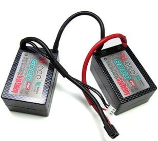 ACE 7.4V 6000mAh 25C分体硬壳锂电池组 电越用