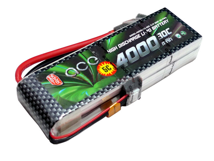 ACE 11.1V 4000mAh 30C LiPo Battery Pack
