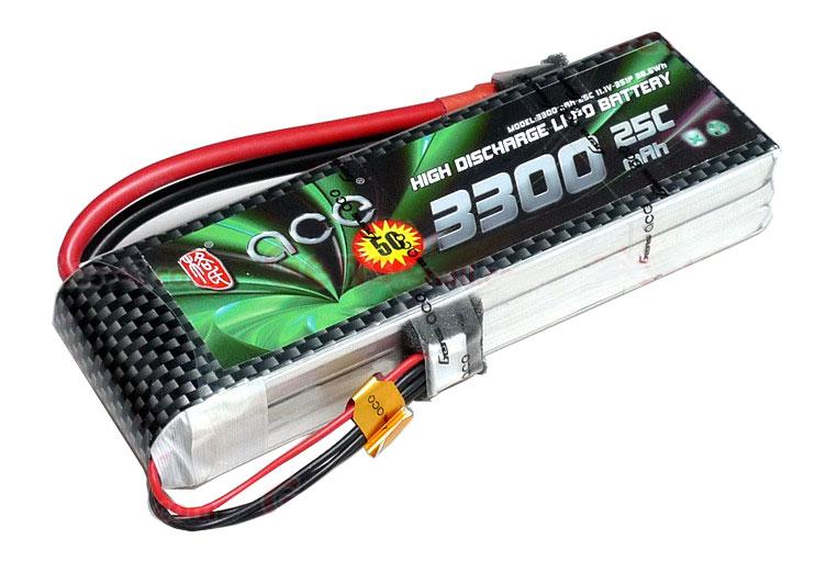ACE 11.1V 3300mAh 25C LiPo Battery Pack