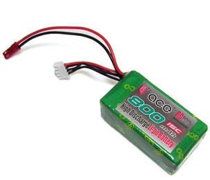 ACE 11.1V 800mAh 15C LiPo Battery Pack JST口