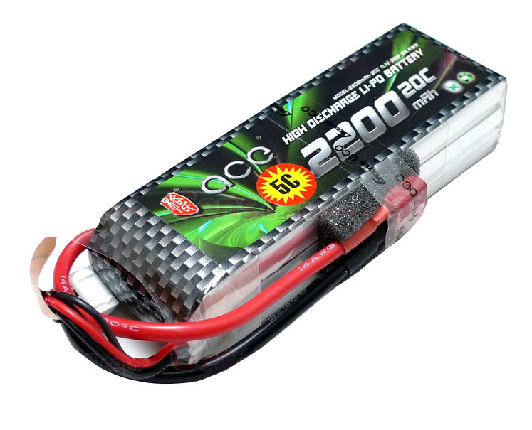 ACE 11.1V 2200mAh 3S 20C LiPo Battery Pack
