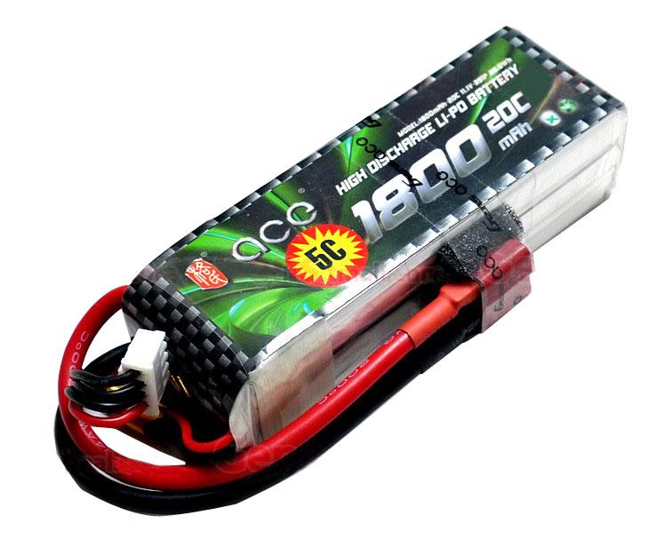 ACE 11.1V 1800mAh 3S 20C LiPo Battery Pack