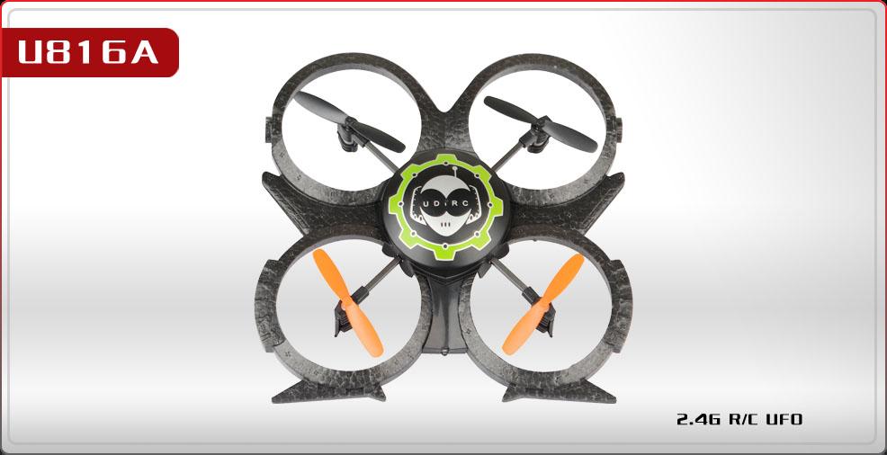 UDI U816A 4CH 6-axis UFO RC Quadcopter 2.4Ghz