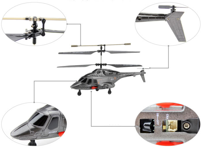 UDI U810A 3.5-Channel iPhone/Android Controlled RC Toy Helicopter with Gyro