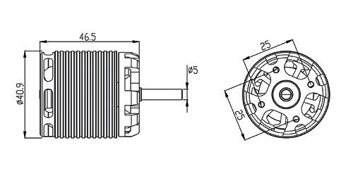 ALIGN 500MX Brushless Motor(1600KV) RCM-BL500MX HML50M02