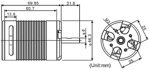 ALIGN 650L Brushless Motor(1220KV) RCM-BL650L KX860024A