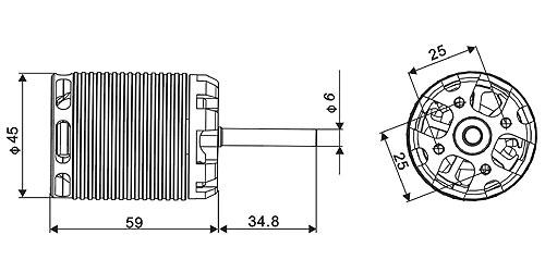 ALIGN 600MX Brushless Motor(510KV) RCM-BL600MX HML60M03
