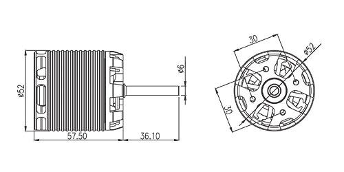 ALIGN 700MX Brushless Motor(530KV) RCM-BL700MX HML70M03