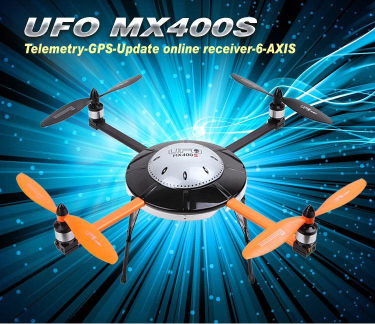 Walkera New UFO MX400S with DEVO 12S 6-Axis Gyro Quadcopter RTF with Aluminum Case 2.4Ghz