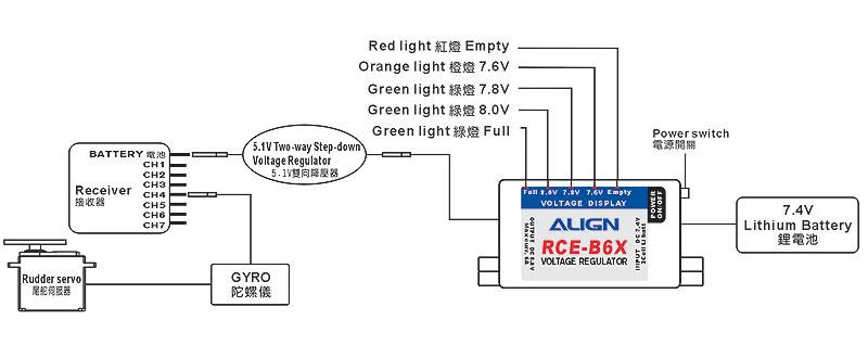 ALIGN 6A External BEC w/ 5.1V Two-way Step-down voltage regulator K10382A