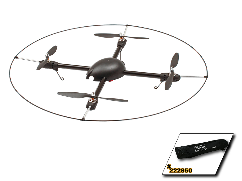 GAUI 500X Quad Flyer Kit (Including Motors, ESCs, Storage bag, Protection Frame,Not including GU-344)222004