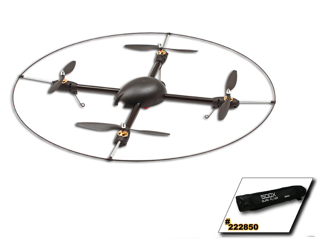 GAUI 500X-S Quad Flyer Kit (Including: Scorpion Motors, ESCS, Storage bag,Protection Frame; Not including: GU-344) 222002