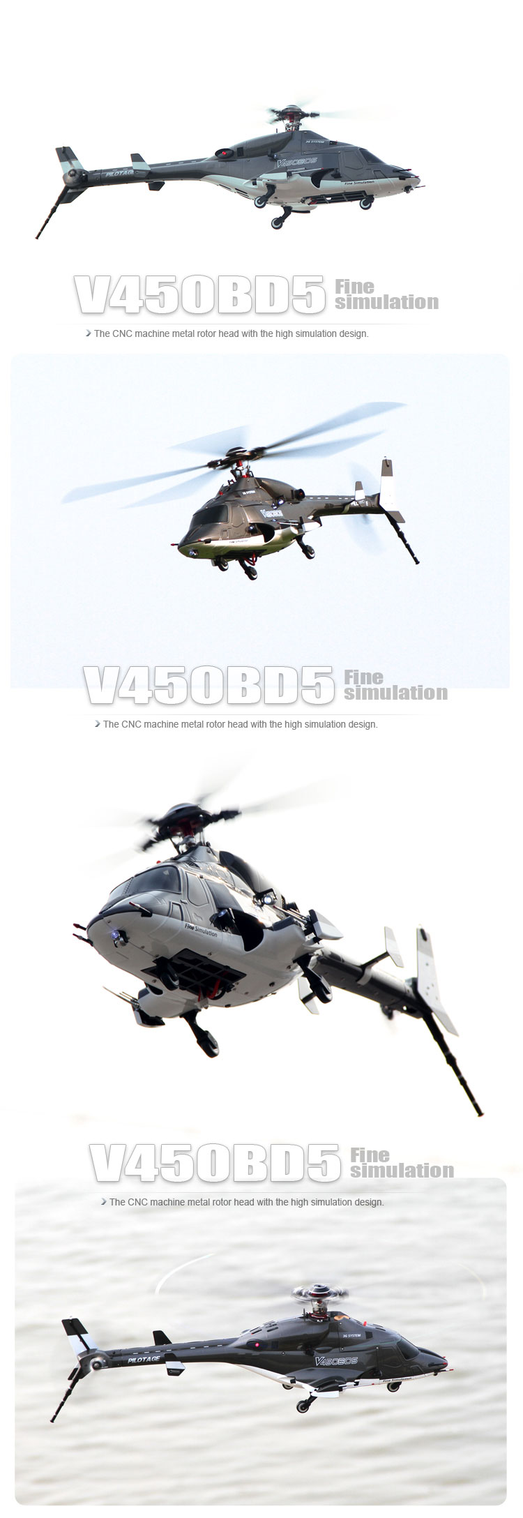 Walkera V450BD5 BNF without Transmitter 6CH 3D Airwolf 450 size RC Fuselage Style Helicopter (with Aluminium case)