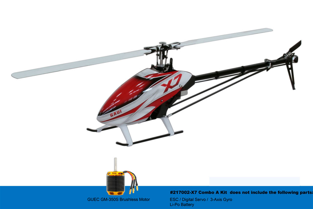 Gaui X7 Combo A Kit RC Helicopter 217002