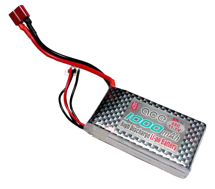 ACE 11.1V 1000mAh 25C LiPo Battery Pack for little plane