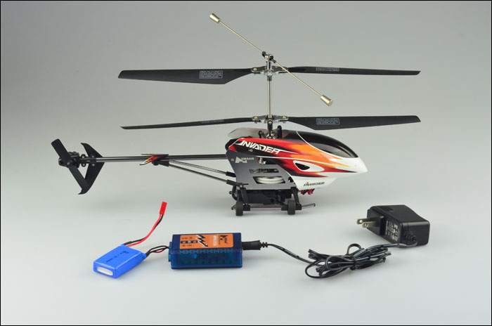 Hubsan H202F FPV Invader Co-Axial 4CH Helicopter with 2.4Ghz Radio System RTF