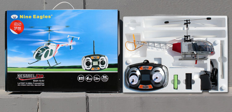 Nine Eagle 106A 4CH Coaxial with Transmitter RC Helicopter for Beginner RTF 2.4G
