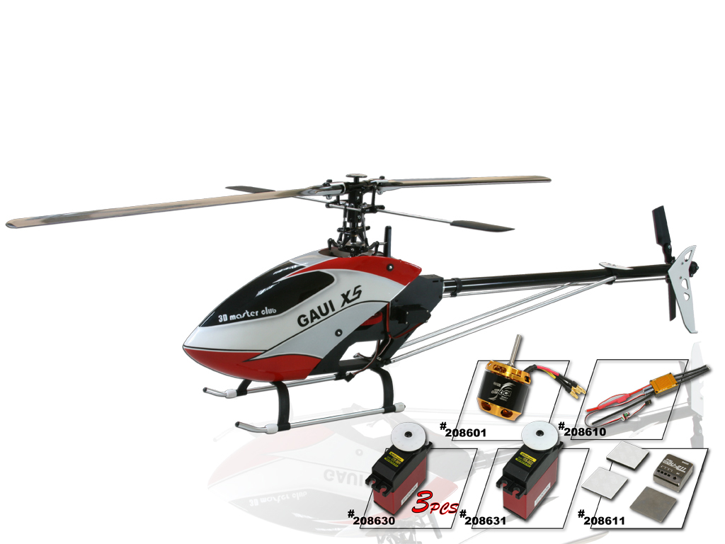 Gaui X5 Lite Super Combo RC Helicopter 208015