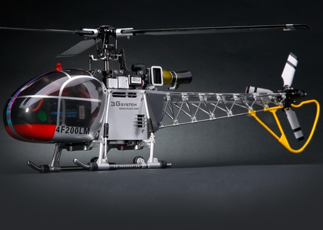 Walkera HM 4F200LM 8-CH RTF helicopter WK2801 (2.4 GHz Silver Edition)